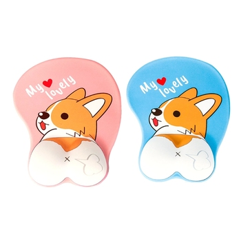Cute Mouse Pad with Wrist Support Ergonomic 3D Mousepad Anime Corgi Dog Mousepad Gaming Mouse Mat for PC Laptops anime 3d mouse pad ergonomic soft silicon gel gaming mousepad with wrist support corgi dog mouse pad mat for girls