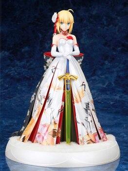 Alter Fate Grand Order Saber Arturia Kimono Ver. Anime PVC Action Figure Arutoria Pendoragon Wedding Dress Collection Toy 25.5CM