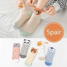 Newborn-Baby Girl Socks Child Cartoon Cotton Fashion 5pairs/Lot Boy Cute Animals 1-12Y