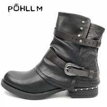2019 New Martin Boots Womens Models European and American Tide Explosion Italian Style F18