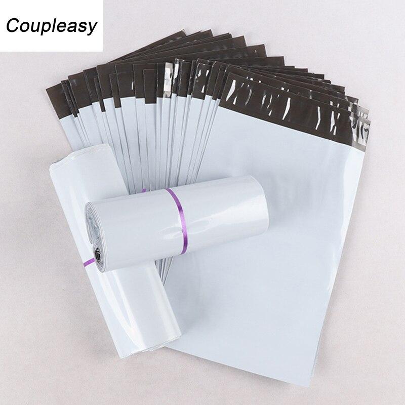 10 шт./лот, белые полиэтиленовые пакеты для доставки, самоклеящиеся курьерские Сумки для хранения, водонепроницаемые почтовые пакеты, 7 разме...