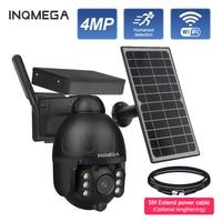 INQMEGA-cámara de seguridad Solar para exteriores, 4MP, 4G, SIM/WIFI, inalámbrica, desmontable, cámara Solar, vídeo CCTV, Monitor inteligente de vigilancia
