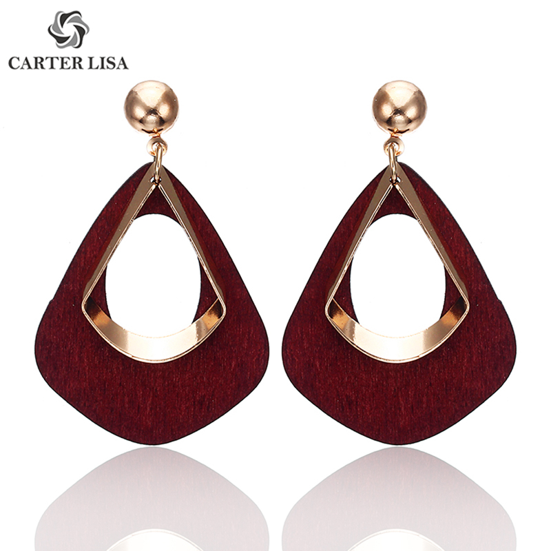 CARTER LISAvintage 2019  Women's Fashion Statement Earring Earrings For Wedding Party Christmas Gift Wholesale Jewelry Brincos