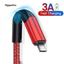 Cable USB a Micro USB 3A de carga rápida Cable de datos USB para Samsung Xiaomi Redmi Note 4 5 Huawei Micro USB de Android carga rápida 1m 2m