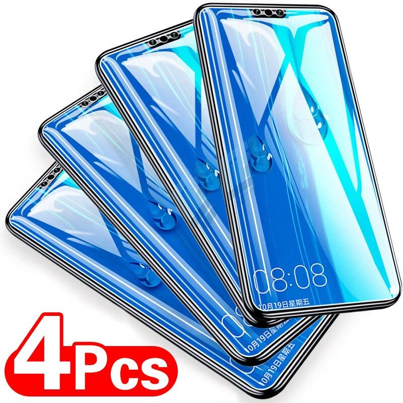 4 pçs vidro temperado para huawei p30 p40 lite p20 p smart 2019 protetor de tela vidro protetor de proteção em huawei p40 p30 p20 lite vidro