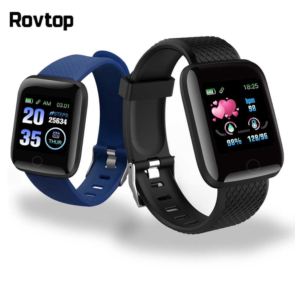 Rovtop D13 الساعات الذكية 116 زائد ساعة معدل نبضات القلب الذكية معصمه الساعات الرياضية الذكية الفرقة Smartwatch أندرويد