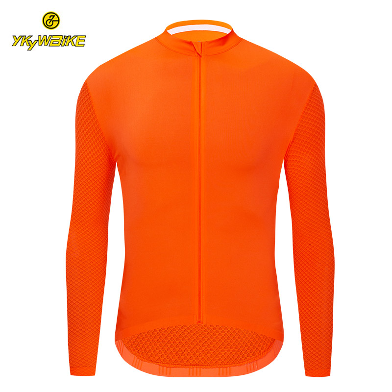 YKYWBIKE Long Sleeve Cycling Jerseys Fit Comfortable Sun-protective Road Bike MTB Top Jersey Spring Autumn Jerseys
