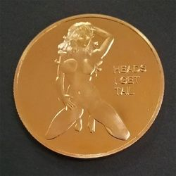 Sexy Woman Coin Get Tails Head! Adult Challenge Lucky Girl Commemorative Coins
