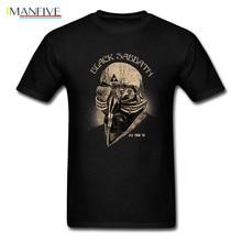 Men Tops Black Sabbath Streetwear Mens T-shirt Gas Mask Tshirt Print Vintage T Shirts Retro Design Adult Clothes Cotton цена 2017