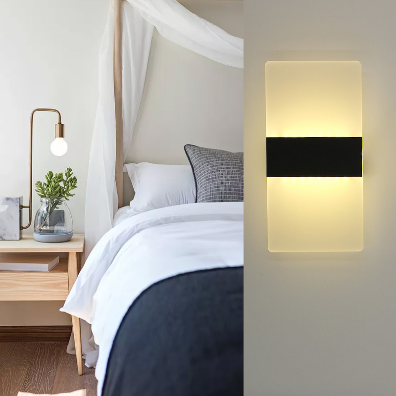 Bedside Light LED Wall Lamp Simple Night Light Living Room Balcony Aisle Wall Lamp Corridor Wall Sconce Lamp