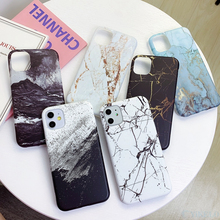 Marble Phone Back Case For iPhone 11 Pro 6 6S 7 8 Plus X XS XR Max Pattern Soft Rubber Full on Cover Coque For iPhone11 Silicone