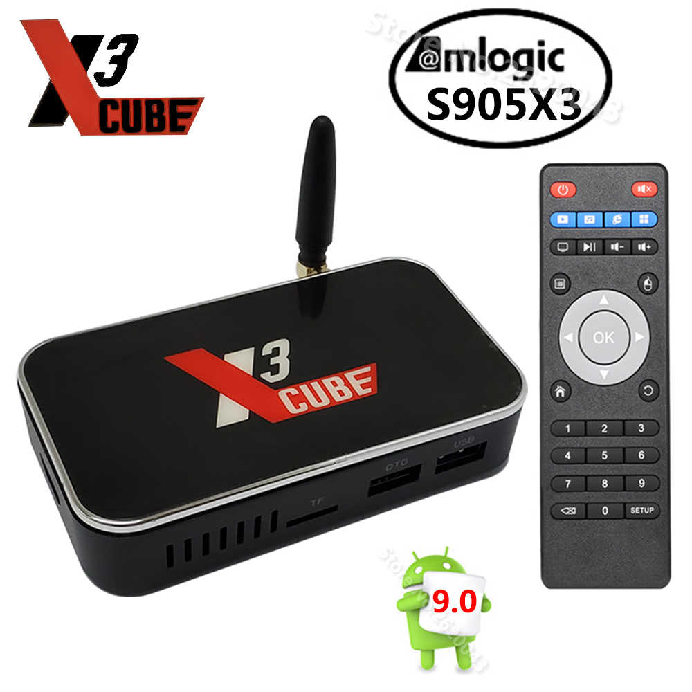 X3 CUBO Amlogic S905X3 Smart TV Box Android 9.0 2GB 4GB DDR4 16GB 32GB di ROM 2.4G 5G WiFi BT 4K HD Media Player X3 PRO vs X2 CUBO