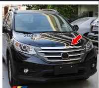 Pour Honda CRV 2012 2013 2014 ABS Chrome Grilles avant décoratif couverture cadre garniture Grilles décoration bande moulures