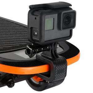 Image 2 - Motocicleta skate guiador girar braçadeira suporte de montagem titular para gopro