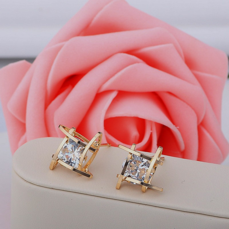 Hd4bc5207636a4577afc7525d62a8d104n - Women's earrings Europe and the new jewelry geometric hollow square triangle zircon earrings fashion banquet jewelry