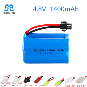 4.8v 1400mah rechargeable battery For RC cars boat toy model Battery toys gun toys battery Ni-Cd Battery AA 4.8 v 1400 mah nicd image