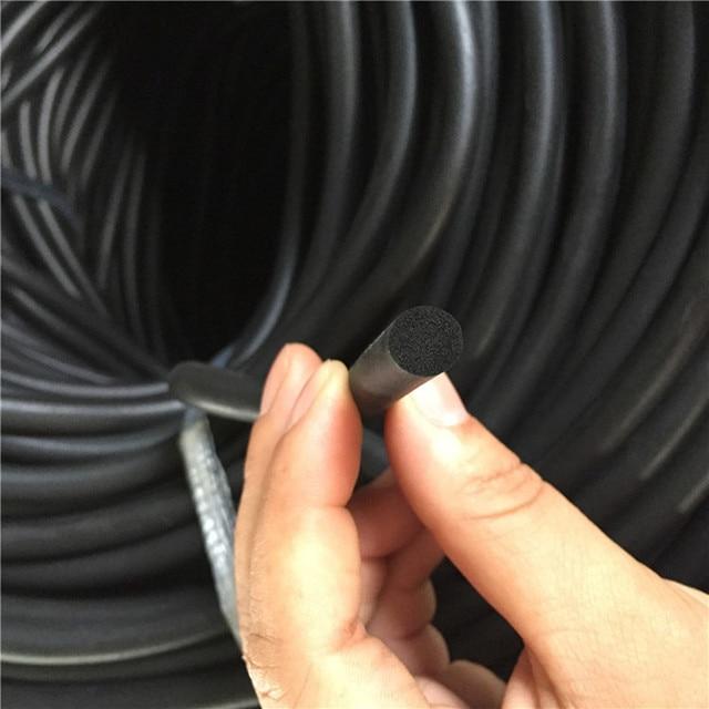 5meter 3/4/5/6/7/8/9/10/12/14/16mm EPDM O type round Sealing Strip Sound proofing dustproof  Foamed O seal strop