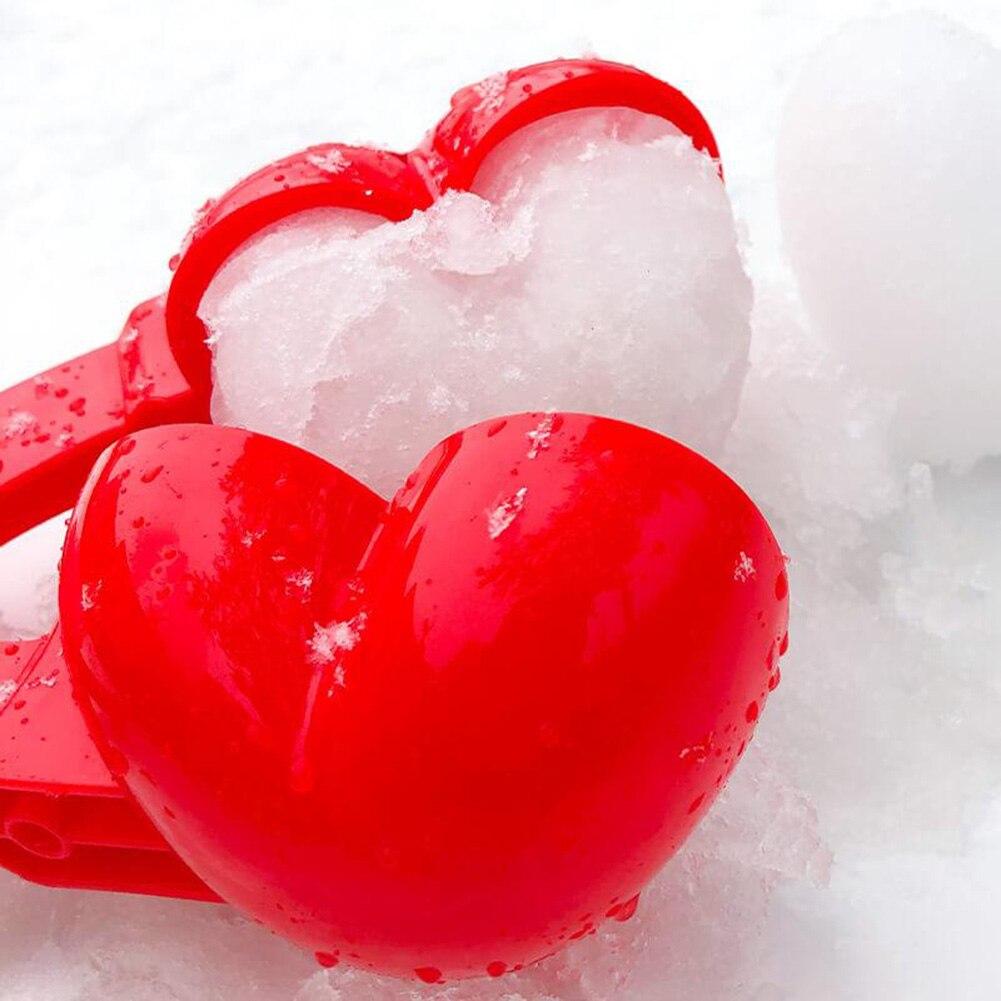 Креативный прибор для изготовления снежного шара на открытом воздухе, приспособление для изготовления зажимов, форма в форме двойного серд...