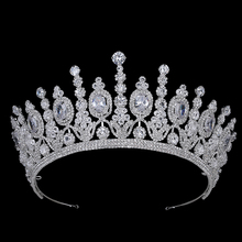 Hadiyana Nieuwe Bridal Klassieke Couronne De Mariage Kronen Luxe Elliptische Zirkoon Wedding Party Big Crown Voor Vrouwen BC4053