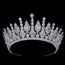 Hadiyana nowy Bridal klasyczne Couronne De Mariage korony luksusowe eliptyczne cyrkon Wedding Party duża korona dla kobiet BC4053