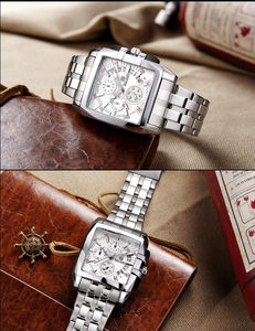 Image 2 - MEGIR Luxe Merk relogio masculino Volledig Stalen Chronograph Mens Quartz Horloge Bedrijf Horloge Mannen Horloges Militaire Klok Nieuwe 2018