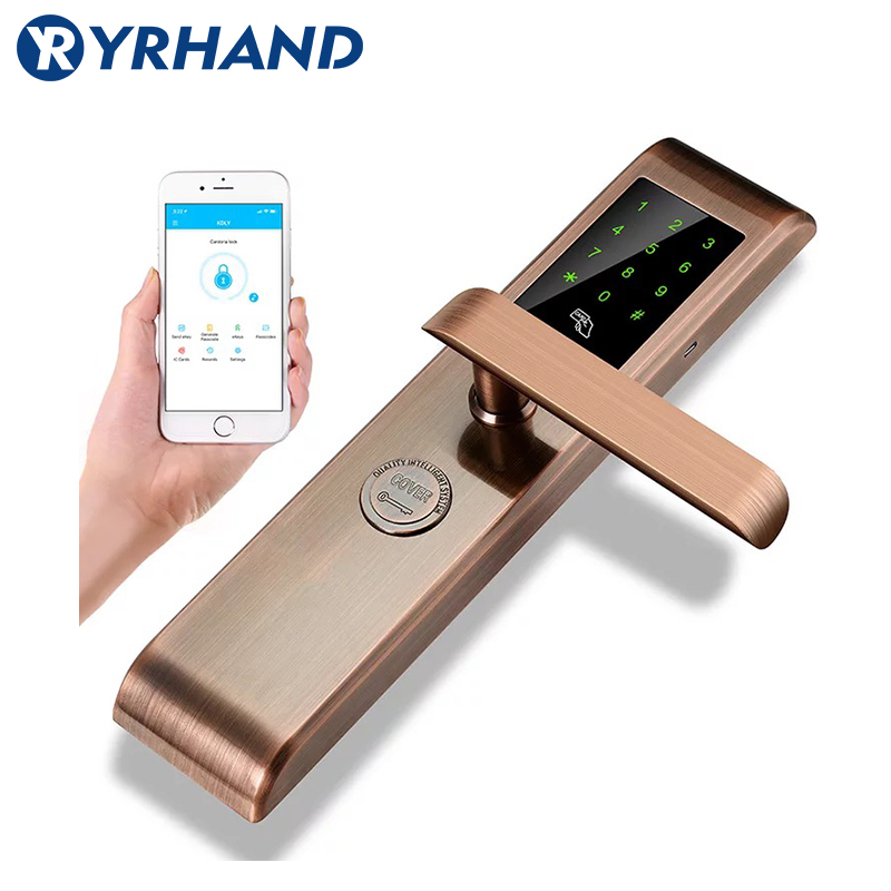 Smartphone Bluetooth Door Lock APP Combination, Code Touch Screen Keypad Password Smart Electronic door Lock with TT lock app