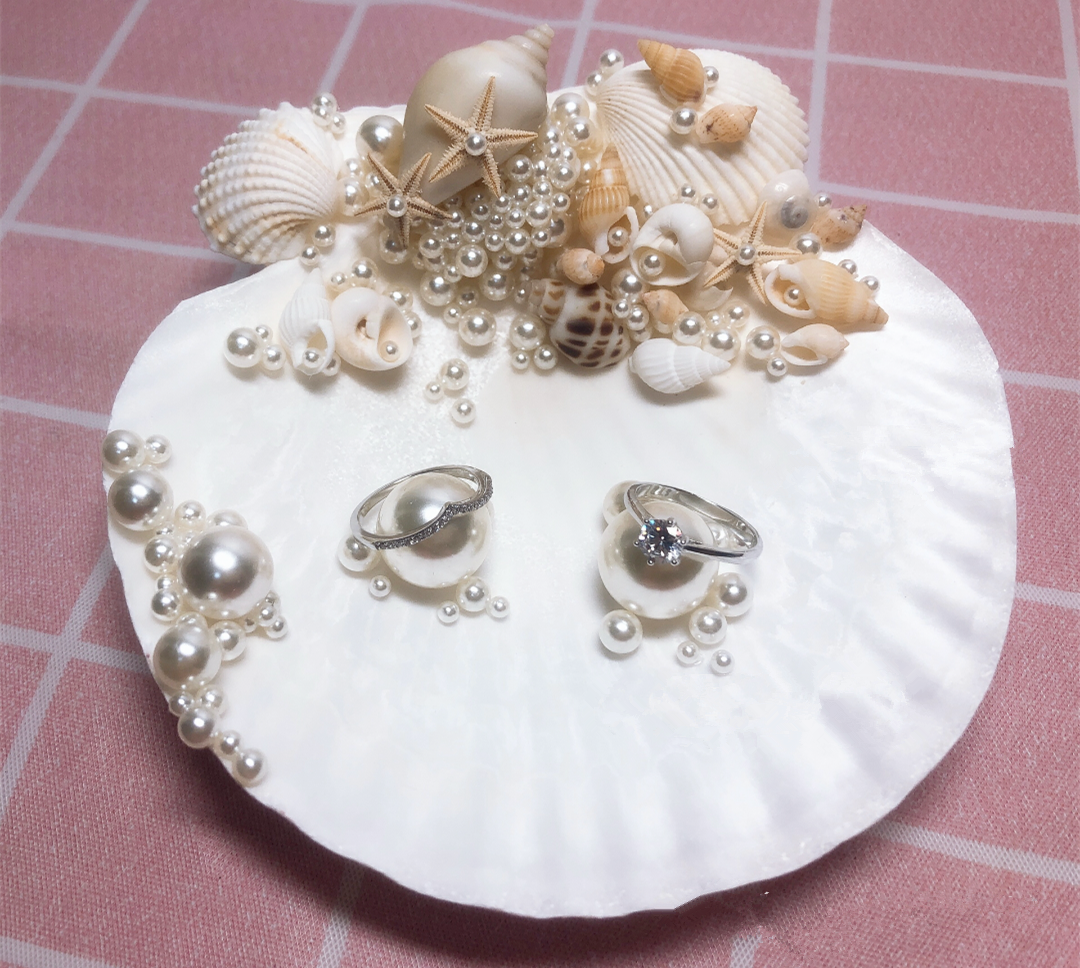 shell wedding ring pillow handmade rings bearer pillow for beach wedding flower girl wedding decoration bridal rings holder