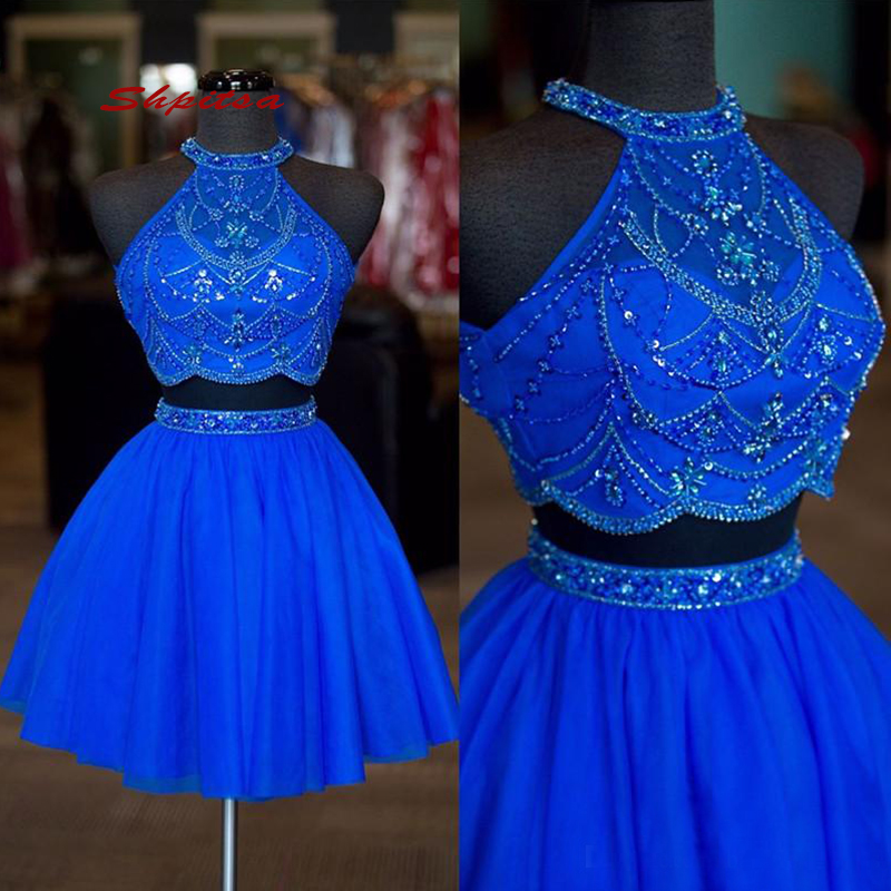 Royal Blue Short Cocktail Dresses Party Sexy Homecoming Graduation Women Prom Plus Size Coctail Semi Formal Dresses