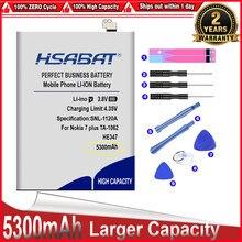 Hsabat marca superior 100% novo 5300 mah he347 bateria para nokia 7 plus ta-1062 ta-1046 ta-1055 n7p n 7 p em estoque
