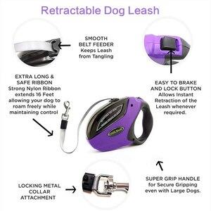 Image 4 - Retrattile Guinzaglio Del Cane Anti Slip Pet Walking Jogging Formazione Guinzaglio per le Piccole Medie Cani di Taglia Grande Fino a 110lbs Roulette per I Cani