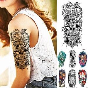 Waterproof Temporary Tattoo Sticker Dragon Japanese Samurai Flash Tattoos Skull Snake Pegasus Body Art Arm Fake Tatoo
