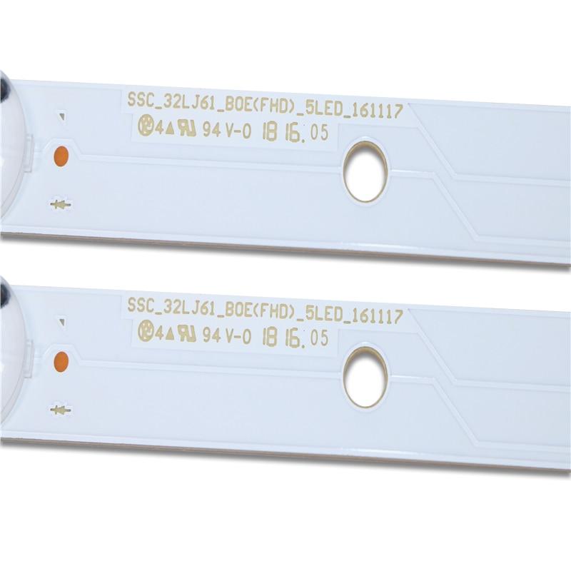 New 8 PCS/set 5LED 615mm LED Backlight Strip For LG 32lj610V REf289 LED ARRAY ASSY 32LJ61 SSC_32LJ61_BOE(FHD)_5LED EAV63673021