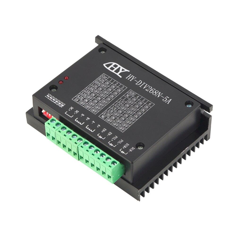 TB6600 ЧПУ аксессуары деревянный маршрутизатор шаговый двигатель драйвер плата управления одноосный 0,2-5A двухфазный гибридный контроллер маш...
