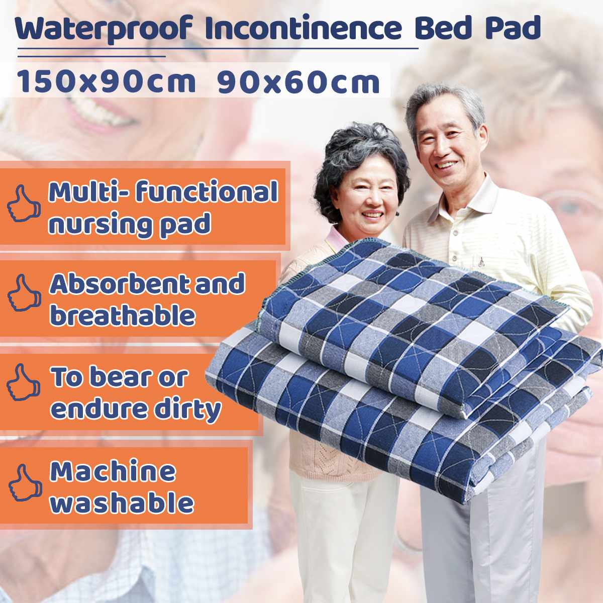 Kids Adult Mattress Cover Washable Reusable Protector Waterproof Underpad Bed Pad For Incontinence Patient Pad Cover Mattress