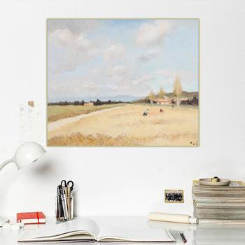 Citon Marcel Dyf Countryside field Natural scenery Canvas Art Oil Painting Artwork Poster Picture Wall Decor Home Decoration image