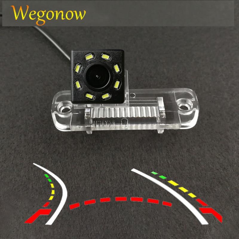 HD kablosuz araba CCD arka kamera balıkgözü 4 8 12 led dinamik Mercedes Benz R sınıfı R350 R500 ML350 w203 W211 B200 A160 W219