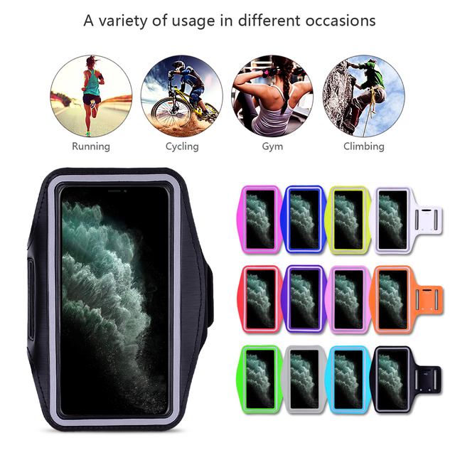 Waterproof Sports Running Workout Gym Arm Band Case For iPhone 12 mini 11 Pro XS Max XR X 8 7 6 6S Plus SE 2020 5 5S Cover Bag 2