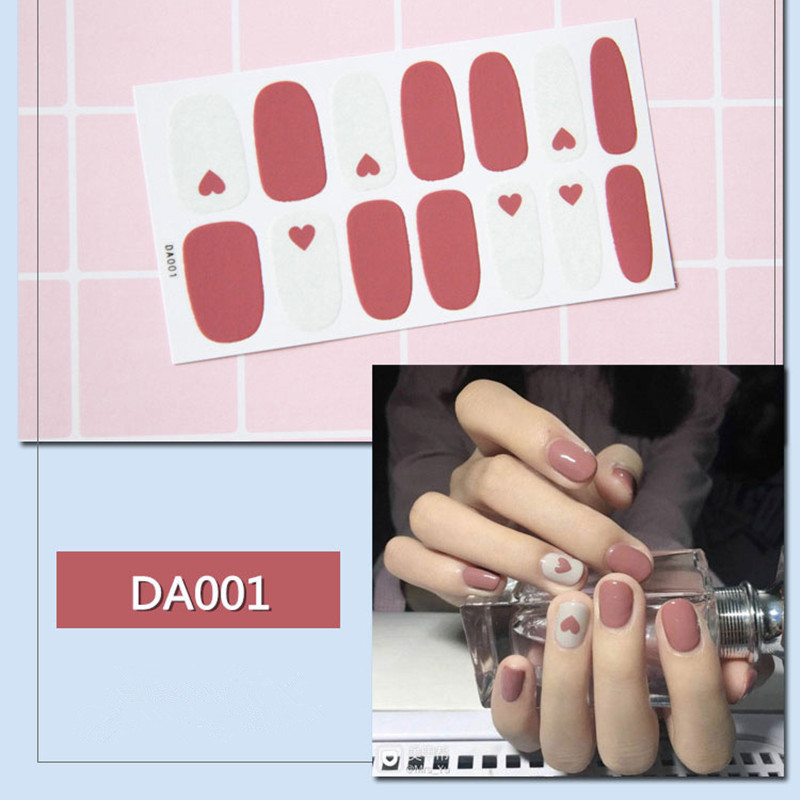 ALI shop ...  ... 32909512053 ... 2 ... 14tips/sheet Full Cover Nail Stickers Wraps DIY Nail Art Decals Plain Stickers Self Adhesive Nail Stickers Flamingo Valentine ...