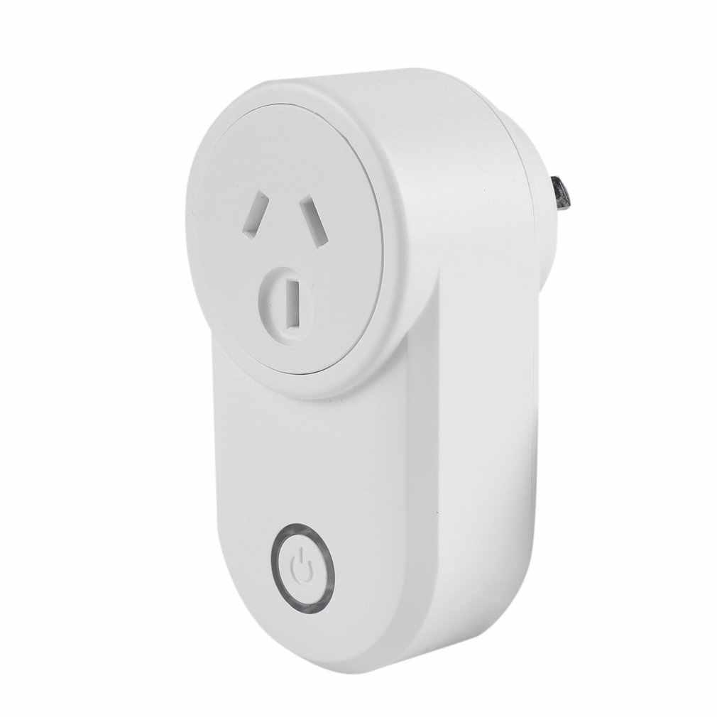 Inteligentna wtyczka inteligentne gniazdo wifi 16A monitor zasilania ue usa AU UK wtyczka działa z Google Home Mini Alexa IFTTT