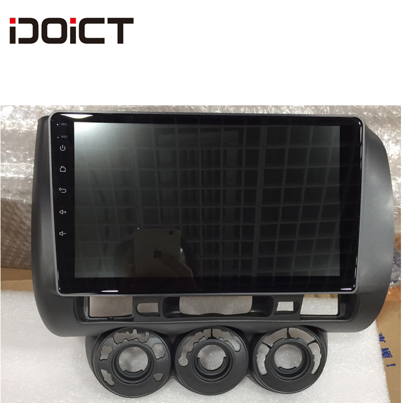 IDOICT Android 8.1 2.5D Car DVD Player GPS Navigation Multimedia For Honda Fit Jazz Right Hand Drive RHD Radio 2004-2007
