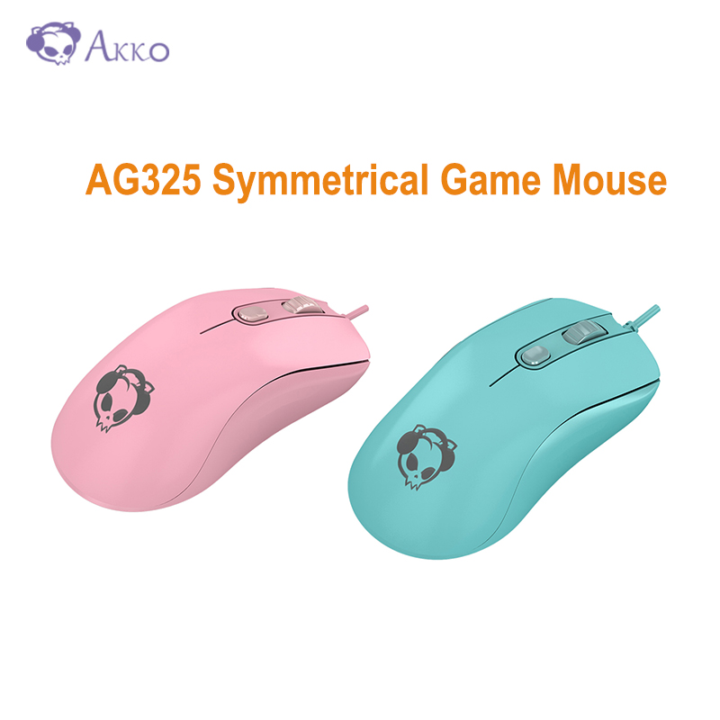 Original AKKO AG325 Symmetrical Game Mouse 6 Keys 5000DPI PMW3325 Chip Omron Micro Motion Novelty Gaming Mice Support Program