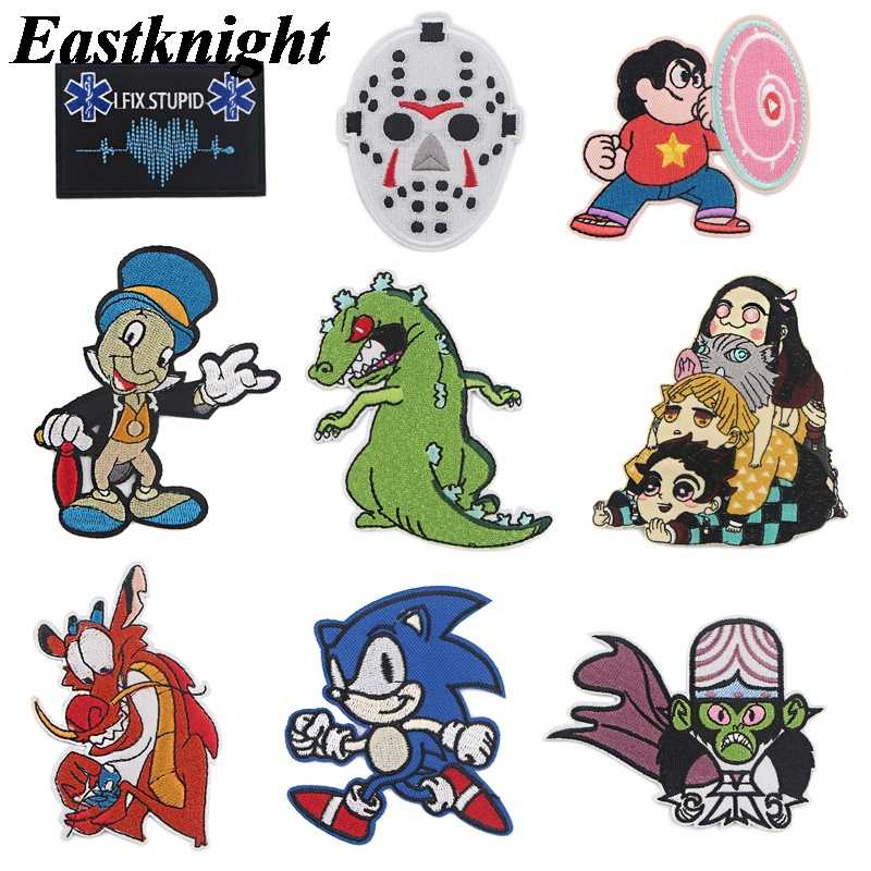 K1880 Marionet Anime Geborduurd Iron On Patches Badge Patchwork Naaien Applique T-shirt Rugzak Badge Sticker 1 Pcs