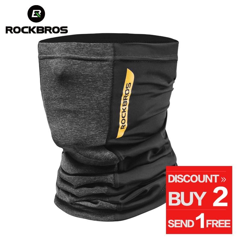 ROCKBROS Hiking Scarves Bandana Men Absorb Sweat Breathable Camping Scarf Neck Warm Running Cycling Tactical Balaclava Face Mask