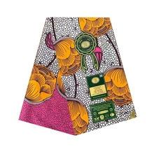2019 The lastest design african wax prints in fabric ankara pagne dutch block woman 100% cotton 6yards/piece soft V-L 705