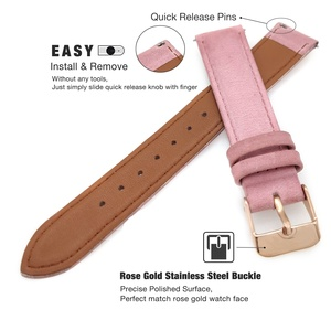 Image 3 - for Fossil Venture Watch Band 18mm Quick Release Classic Leather Rose Clasp Women Wrist Strap for Fossil Q Venture Gen 3/Gen 4