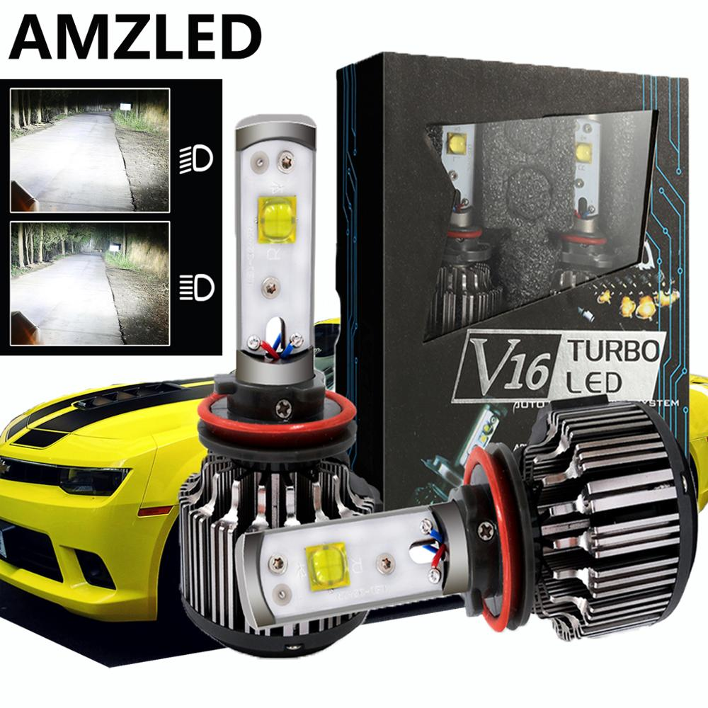 AMZLED V16 <font><b>H4</b></font> <font><b>LED</b></font> H7 <font><b>LED</b></font> Car Headlight Kit 50W <font><b>10000LM</b></font> H1 H11 9005 HB3 9006 HB4 H8 Fog Bulbs 12V 6000K Auto Headlamps work light image