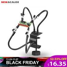 NEWACALOX abrazadera de escritorio para Estación de soldadura, soporte de estación de soldadura, Clip de cocodrilo PCB, herramienta de tercera mano para ayuda a soldar, herramienta de reparación de soldadura