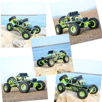 Wltoys 12428 RC Car 4WD 2.4Ghz 1:12 Radio Remote Control Crawler Off-road Model Toy High Speed 50km/h Vehicle With LED Light 3
