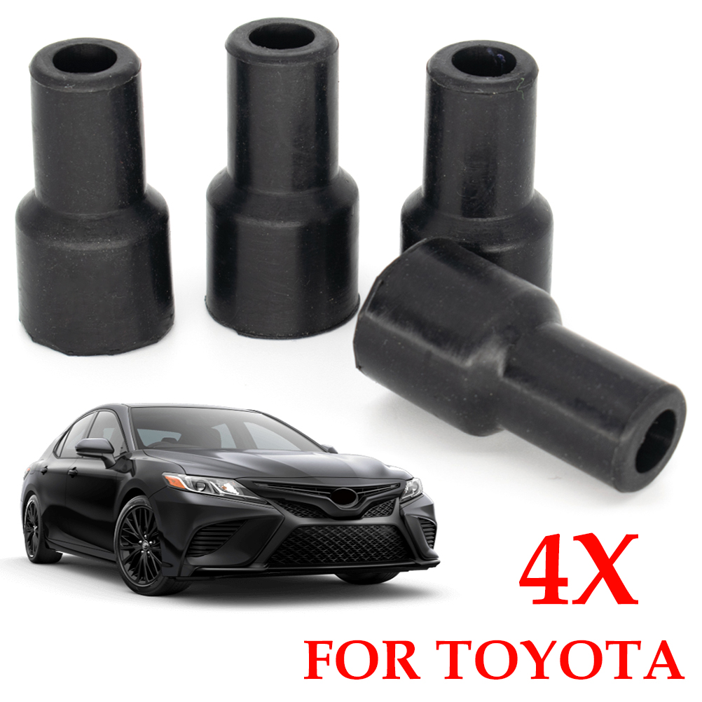 Erick's Wiper 4X Spark Plugs Cap Connector Ignition Coil Coils Plug Tip Rubber Cover For Toyota Yaris Vios Camry Corolla Prius
