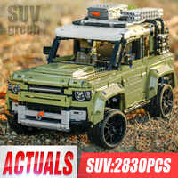Technic Car Toy Compatible 42110 Land Rover Defender Set Assembly Car Model Building Blocks Bricks Christmas Gift Toy